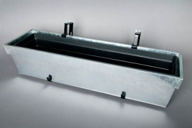 Flower box adjustable galvanised zinc 85x24x18cm