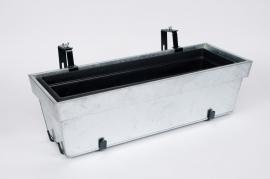 Flower box zinc galva adjustable  65x24x18cm