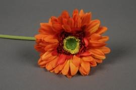 x514nn Gerbera artificiel orange H48cm