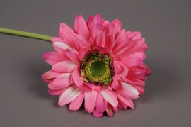 x515nn Gerbera artificiel rose H48cm
