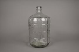 a531uo Glass bottle D24cm H42cm