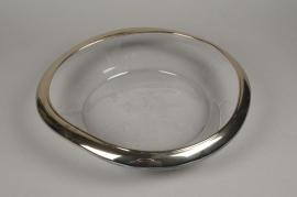 B386W3 Glass bowl D40cm H8cm