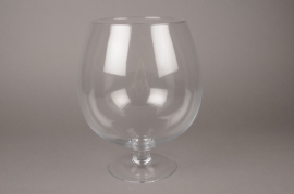 B434W3 Glass cognac vase D23cm H30cm