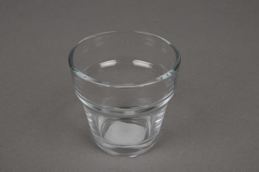 A001L2 Glass flared jar D7cm H6.5cm
