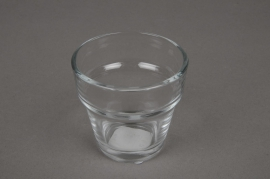 A001L2 Glass flared jar D7cm H6.5cm