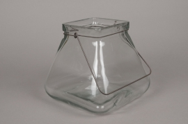 A010R4 Glass flared vase 23cm x 23cm H23cm