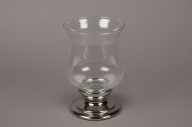 C042DQ Glass light holder D17cm H28cm