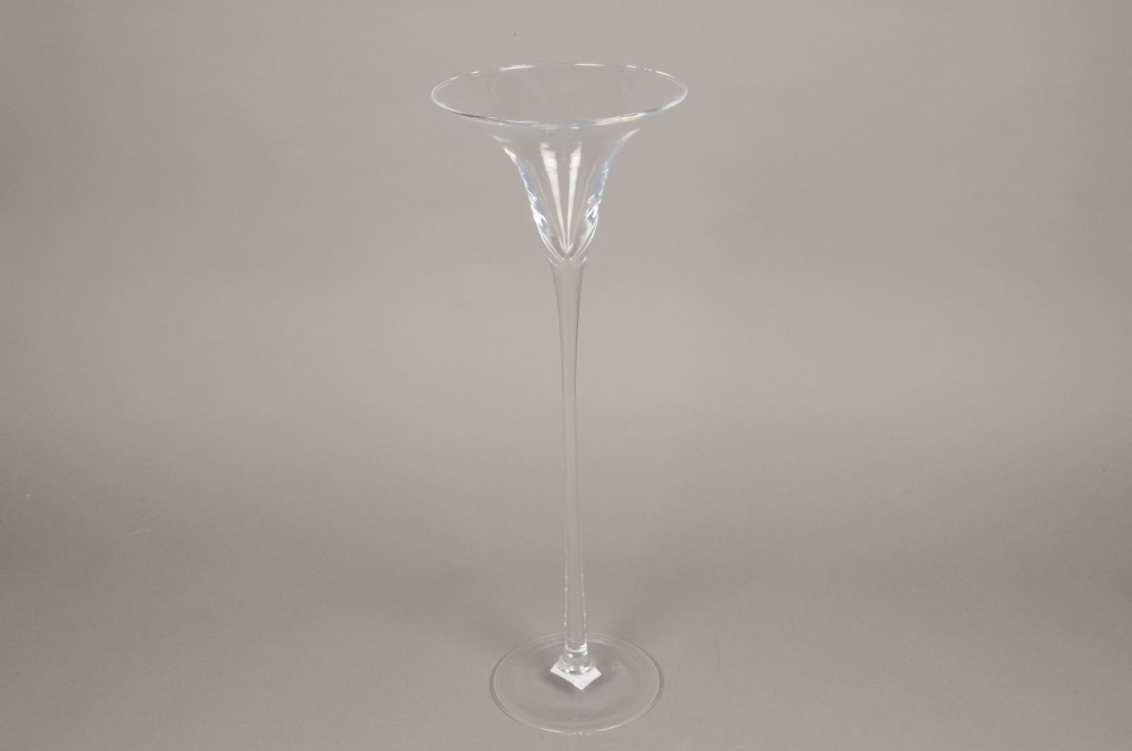 B448W3 Glass martini vase D17cm H50cm