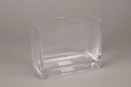 A009I0 Glass planter 18x10cm H14cm