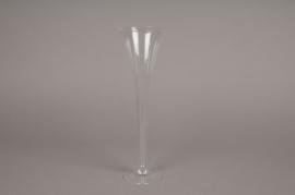 B378W3 Glass soliflor D8.5cm H28cm