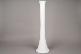 A084I0 Glass soliflor white H78cm