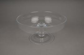 B326W3 Glass stemmed bowl D20cm H10cm