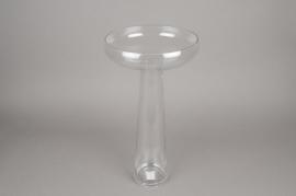 A077K9 Glass stemmed bowl D25cm H49cm