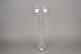 A076K9 Glass stemmed bowl D27cm H59cm