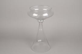 A082K9 Glass stemmed bowl D30cm H50cm