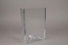 B470W3 Glass vase 19cm x 8cm H30cm