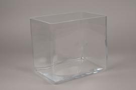 B490W3 Glass vase 24cm x 18cm H22cm