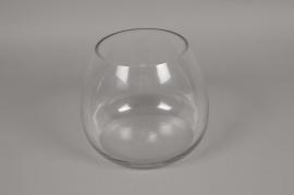 A073K9 Glass vase bombshell D24cm H20cm