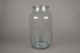 C128DQ Vase en verre D25cm H45cm