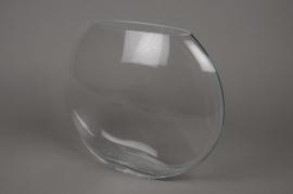 A004M1 Vase en verre elipse D31cm H24cm