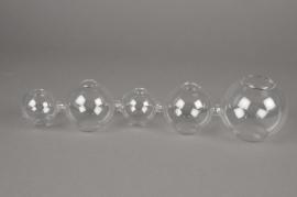 A012U5 Vase en verre L36cm H8cm