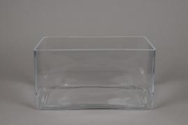 B274W3 Glass window box length 30cm width 21cm height 15cm