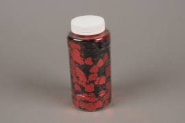 A001BW Glitter pot 350g red hearts 13mm
