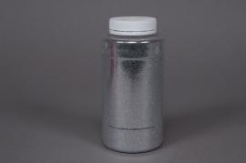 Glitter pot 400g silver