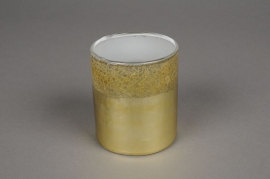 A018K0 Gold glass jar D7.5cm H8.5cm