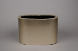 A047TU Gold high density fiber pot 30x17cm H20cm