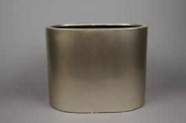 A046TU Gold high density fiber pot 39x25cm H30cm