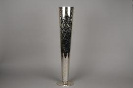 A060K9 Gold stemmed glass vase H80cm