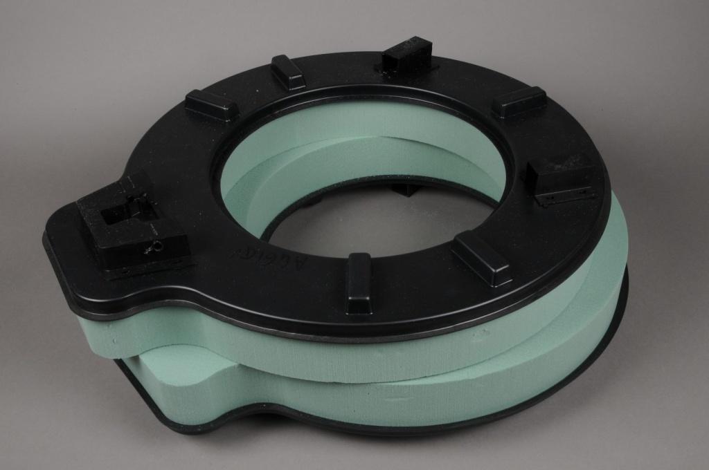 A461QV Green floral foam wettable crown D50cm