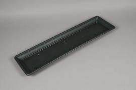 A097NT Green plastic saucer 21.5cm x 77cm H4cm