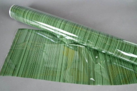 A713QX Green roll of cellophane tube 80cm x 50m