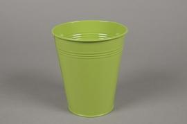 A331KM Green zinc planter D11cm H13cm