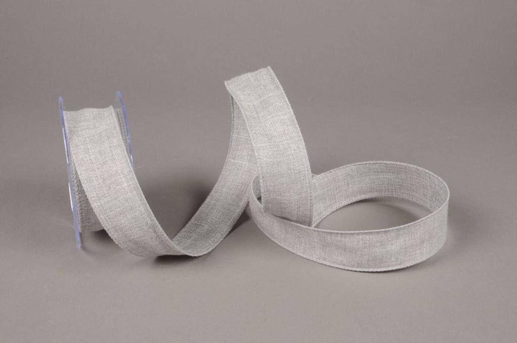 A634UN Grey cotton ribbon 38mm x 10
