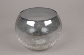 A057ZG Grey glass light holder D18.5cm H13.5cm