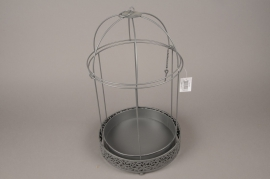 A034AY Grey metal cage D25cm H43cm