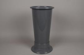 A091T7 Grey plastic vase D22cm H50cm