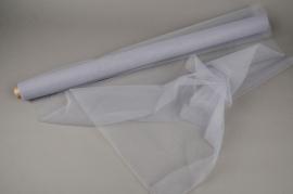 A795GM Grey tulle roll 75cm x 10m