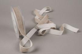 A459EC Grey velvet ribbon 20mm x 10m