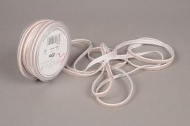 A473EC Grey velvet ribbon 6mm x 20m