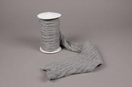 X001HX Grey wool ribbon 15cm x 220cm