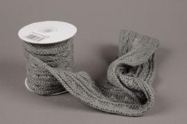 X003HX Grey wool ribbon 8cm x 2m20
