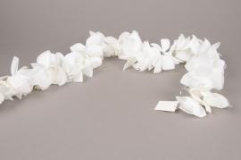 x371mi Guirlande de rose artificielle blanc 200cm