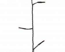 X972KI Guirlande LED fil noir rouge extérieur 13,5m