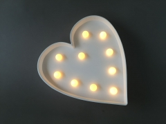 A369DQ Heart sign LED warm white