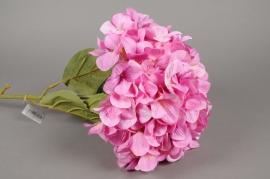 x143fd Hortensia artificiel rose H115cm