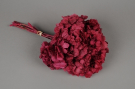 i445ab Pink preserved hydrangea H33cm